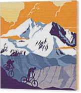 retro cycling poster Live to Ride Ride to Live  Wood Print