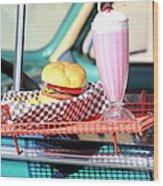Retro Diner. Wood Print
