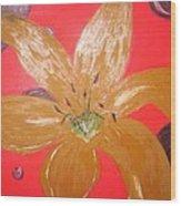 Retro Flower Wood Print