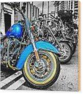 Retro Harleys Wood Print