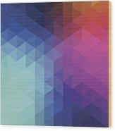 Retro Hexagon Abstract Background Wood Print