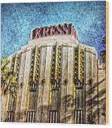 Retro Kress Wood Print