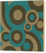 Retro Line Background Wood Print
