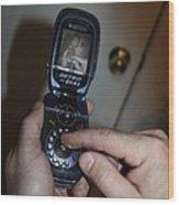 Retro Phone Wood Print