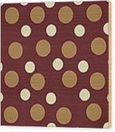 Retro Polka Dot Wood Print