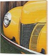 Retro Yellow Wood Print