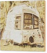 Retrod The Comic Caravan Wood Print