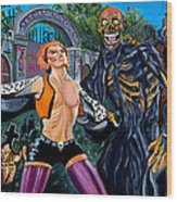 Return Of The Living Dead Wood Print