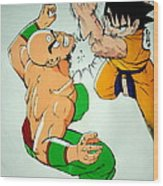 Return Of Vegeta Wood Print