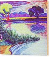 Return To Morgan's Pond Wood Print