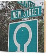 Sign Post Wood Print