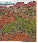 Return Trail To Elephant Hill In Needles District Of Canyonlands National Park-utah Wood Print