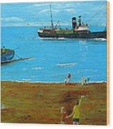 Returning Fishing Trawler  Wood Print