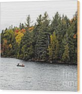 Returning From A Canoe Trip Wood Print