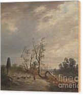 Returning Home Before An Approaching Storm Wood Print