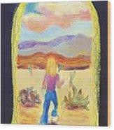 Returning To Arizona Wood Print
