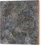 Revelations Vi--space Time Brocade Wood Print