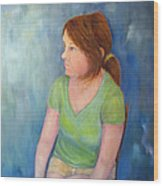 Reverie Of A Young Woman Wood Print