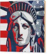 Reversing Liberty 1 Wood Print