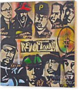 Revolutionary Hip Hop Wood Print
