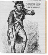 Revolutionary Soldier Wood Print