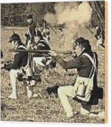 Revolutionary War Battle Wood Print