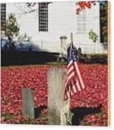 Revolutionary War Hero Wood Print