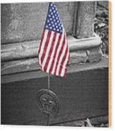 Revolutionary War Veteran Marker Wood Print by Teresa Mucha