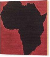 Revolutionist Alkebulan  Wood Print