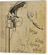Revolving Fire Arm - Patented On 1885 Wood Print