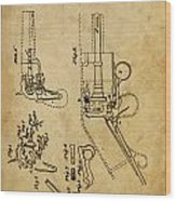 Revolving Gun Colt - Patented On 1836 Wood Print