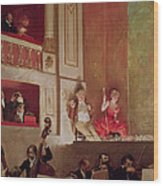 Revue At The Theatre Des Varietes, C.1885 Oil On Canvas Wood Print