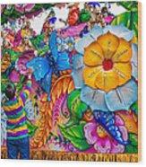 Rex Mardi Gras Parade Wood Print