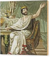 Rex Sacrificulus, Illustration Wood Print