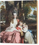 Reynolds' Lady Elizabeth Delme And Her Children Wood Print