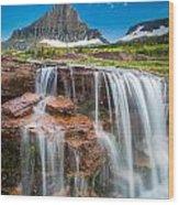 Reynolds Mountain Falls Wood Print