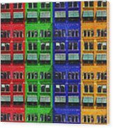 Rgby - Downtown Apartments Wood Print