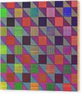 Rgby Squares II Wood Print