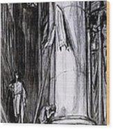 Rheims Cathedral, Scene From St Joan Wood Print