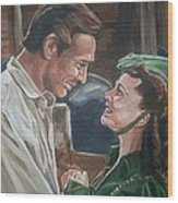 Rhett And Scarlett Wood Print