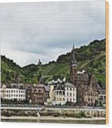 Rhine River View Wood Print