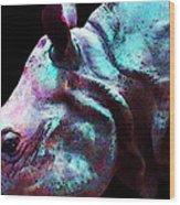 Rhino 1 - Rhinoceros Art Prints Wood Print by Sharon Cummings