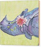 Rhino Whimsy Wood Print
