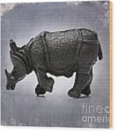 Rhinoceros Wood Print by Bernard Jaubert