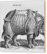 Rhinoceros No 76 From Historia Animalium By Conrad Gesner  Wood Print