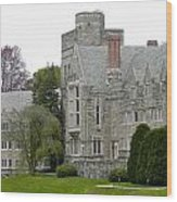 Rhoads Hall Bryn Mawr College Wood Print