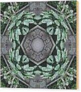 Rhode Island Garden Three Wood Print