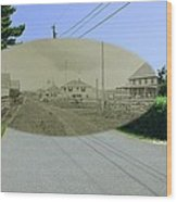Rhode Island Road At Sakonnet Point In Little Compton Rhode Island Wood Print