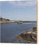 Rhode Island Seascape And House Wood Print
