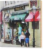 Rhode Island - Thames Street Newport Ri Wood Print
